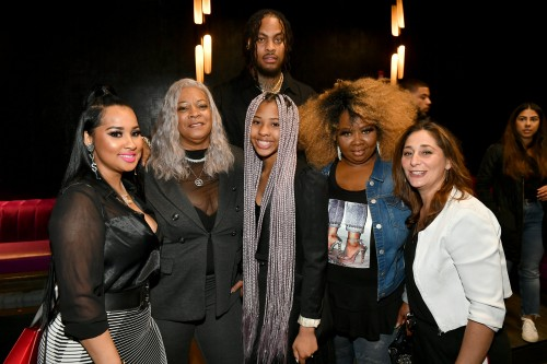 "ATLANTA, GEORGIA - MARCH 10: (L-R) Tammy Rivera, Debra Antney, Charlie Rivera, Mona Smith, Lauren Gellert and Waka Flocka attend the premiere of ""Waka & Tammy: What The Flocka"" at Republic on March 10, 2020 in Atlanta, Georgia. (Photo by Paras Griffin/Getty Images WE tv)"