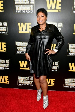 "ATLANTA, GEORGIA - MARCH 10: Trina Braxton attends the premiere of ""Waka & Tammy: What The Flocka"" at Republic on March 10, 2020 in Atlanta, Georgia. (Photo by Paras Griffin/Getty Images WE tv)"