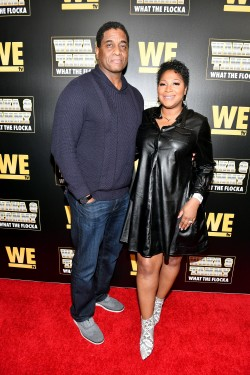 "ATLANTA, GEORGIA - MARCH 10: Von Scales and Trina Braxton attend the premiere of ""Waka & Tammy: What The Flocka"" at Republic on March 10, 2020 in Atlanta, Georgia. (Photo by Paras Griffin/Getty Images WE tv)"
