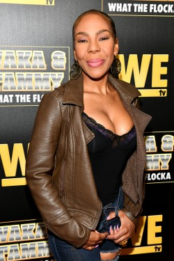"ATLANTA, GEORGIA - MARCH 10: Drea Kelly attends the premiere of ""Waka & Tammy: What The Flocka"" at Republic on March 10, 2020 in Atlanta, Georgia. (Photo by Paras Griffin/Getty Images WE tv)"