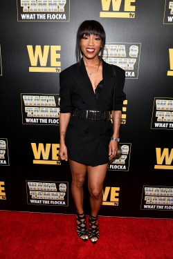 "ATLANTA, GEORGIA - MARCH 10: Dondria attends the premiere of ""Waka & Tammy: What The Flocka"" at Republic on March 10, 2020 in Atlanta, Georgia. (Photo by Paras Griffin/Getty Images WE tv)"