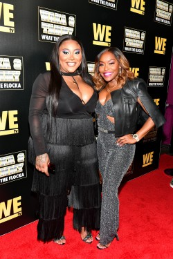 "ATLANTA, GEORGIA - MARCH 10: TS Madison and Quad Webb attend the premiere of ""Waka & Tammy: What The Flocka"" at Republic on March 10, 2020 in Atlanta, Georgia. (Photo by Paras Griffin/Getty Images WE tv)"