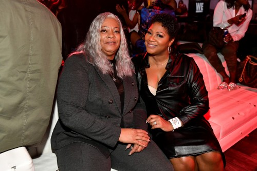 "ATLANTA, GEORGIA - MARCH 10: Debra Antney (L) and Trina Braxton attend the premiere of ""Waka & Tammy: What The Flocka"" at Republic on March 10, 2020 in Atlanta, Georgia. (Photo by Paras Griffin/Getty Images WE tv)"