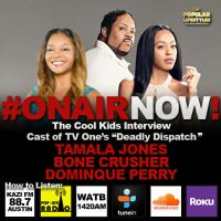 "Harmony Love Interviews the cast of TV One's ""Deadly Dispatch"", Tamala Jones, Dominque Perry & Bone Crusher"