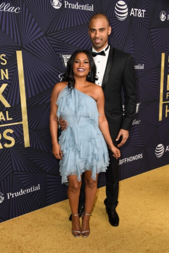 Nia Long and Ime Udoka attend BET Presents the American Black Film Festival Honors on Feb. 17, 2017 in Beverly Hills, California. (Photo by Frazer Harrison/Getty Images )